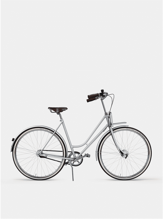 Metallic Grey Lady Cruiser Bicycle