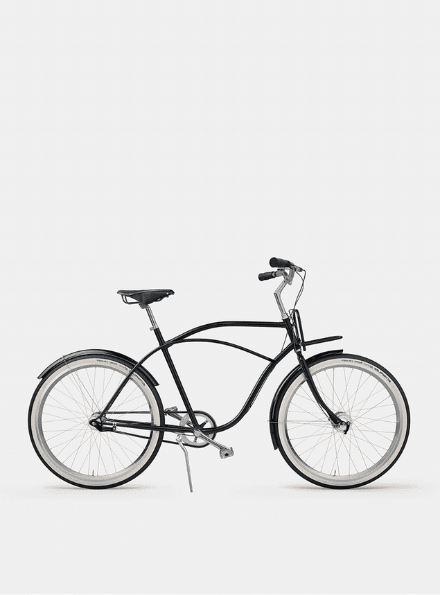 Pure Black  Beach Cruiser Bicycle