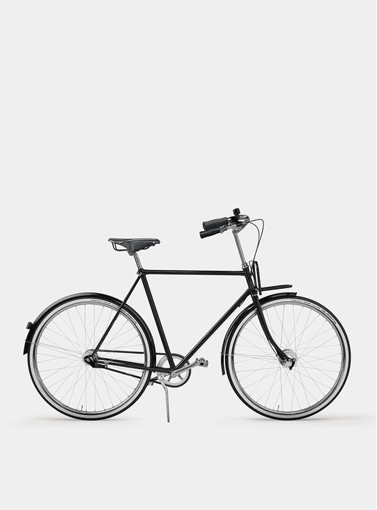 Pure Black City Cruiser Bicycle