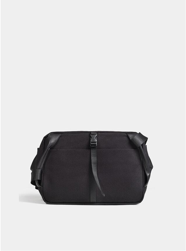 Black Coated Canvas Riss Bag