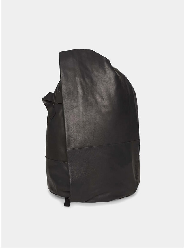 Black Leather Alias Leather Backpack