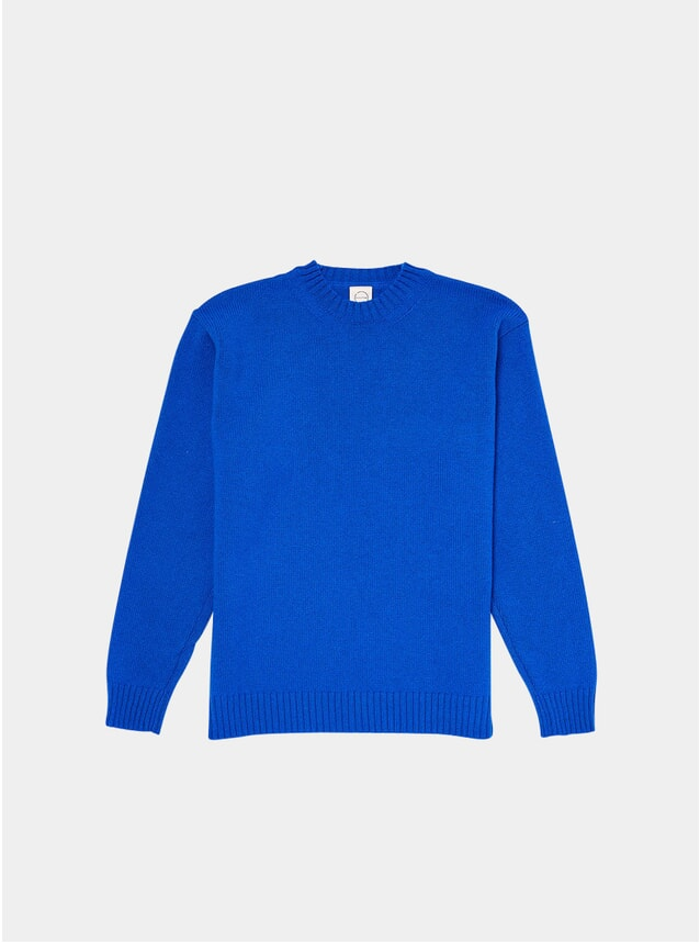 Blue Knitted Crew
