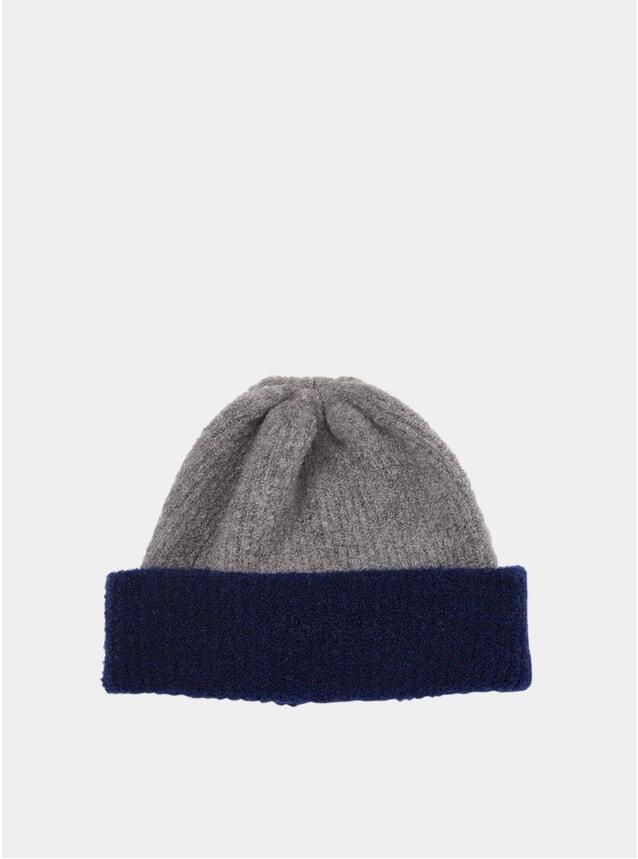 Grey / Blue Fleece Watch Cap