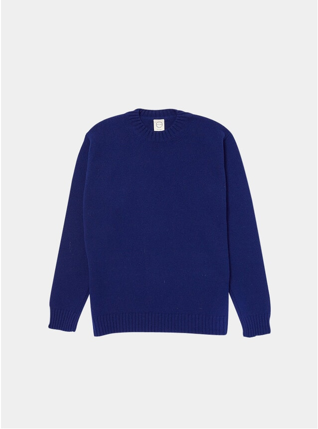 Navy Knitted Crewneck