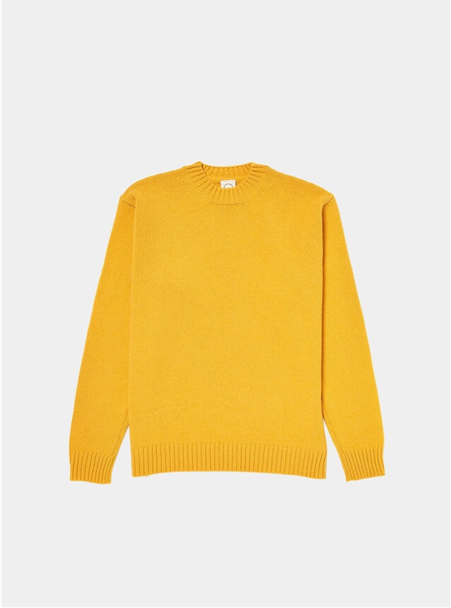 Yellow Knitted Crew