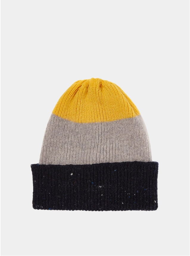 Yellow Tri-Fabric Watch Cap