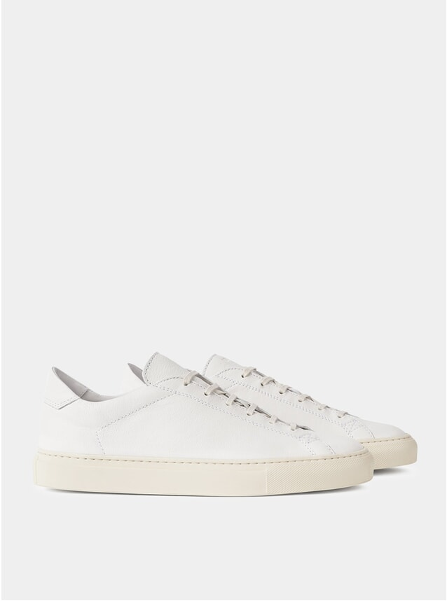 White Leather Mamba Sneakers