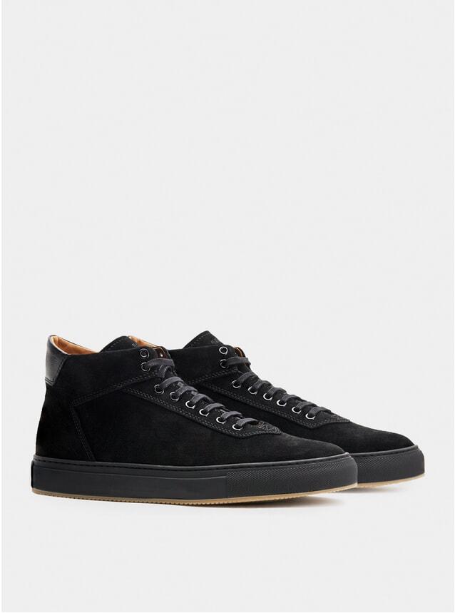 Black Suede Montem Sneakers