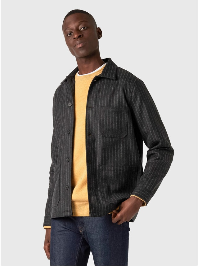 Charcoal Pinstripe Orginal Overshirt