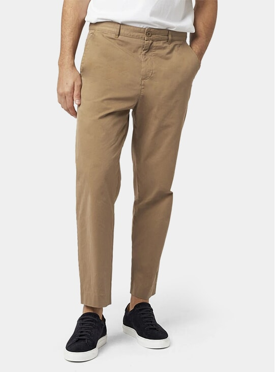 Khaki Cropped Trousers