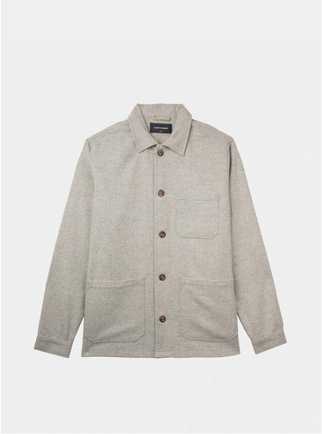 Light Grey Melange Wool Original Overshirt