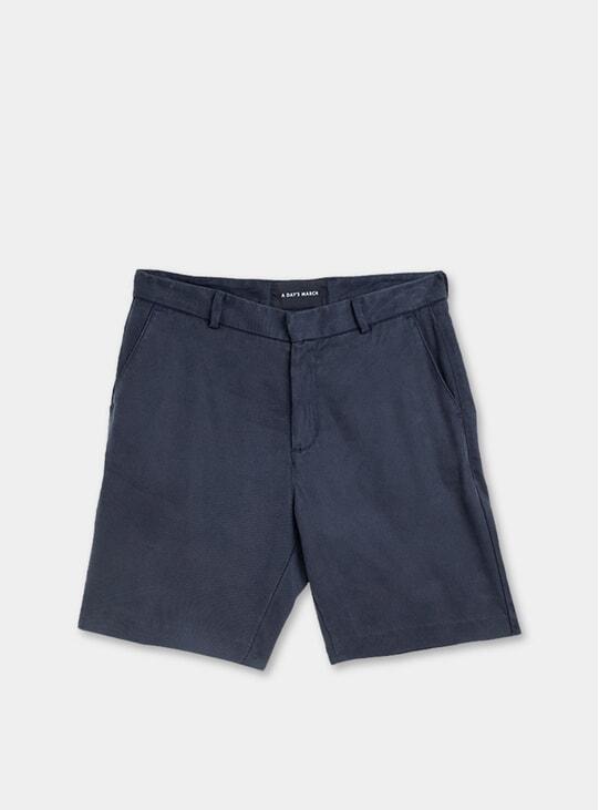 Navy Tencel Shorts