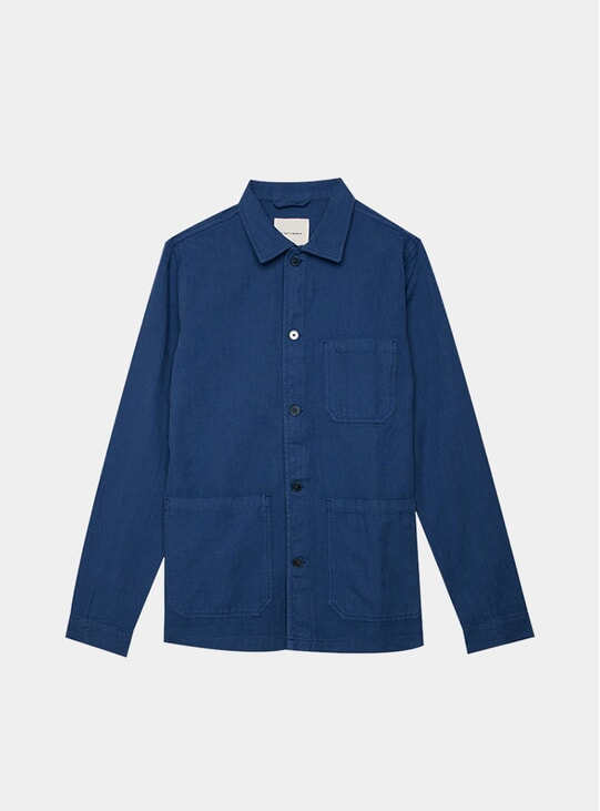 Worker Blue Herringbone Original Overshirt