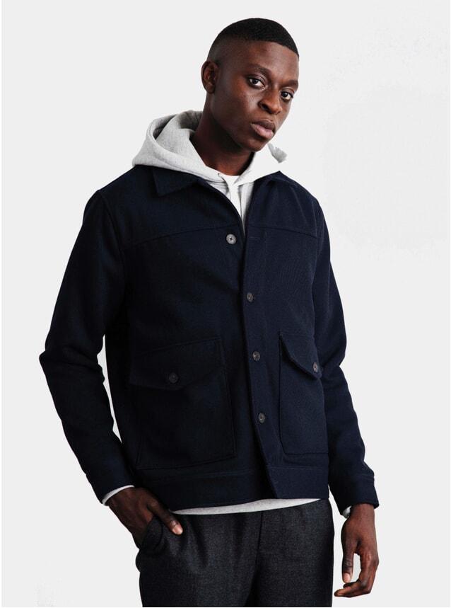 Navy Patch Shoulder Jacket