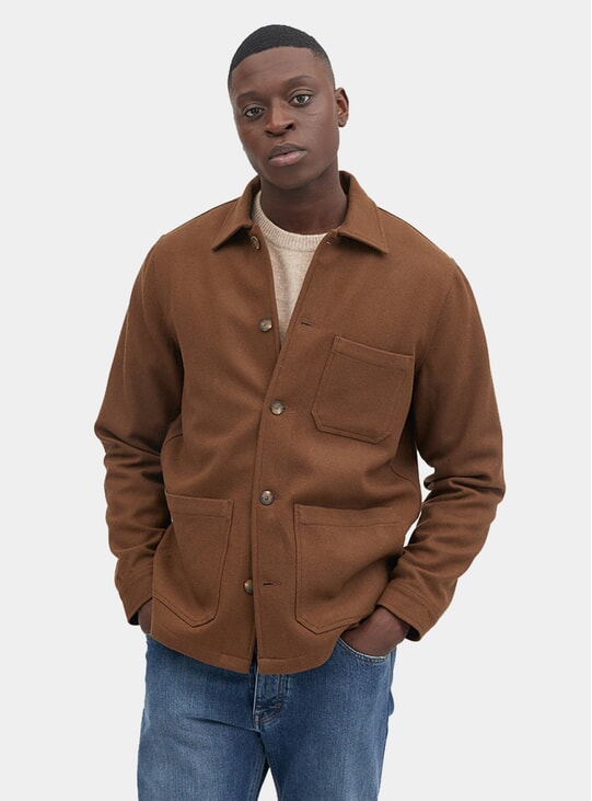 Partridge Brown Original Overshirt