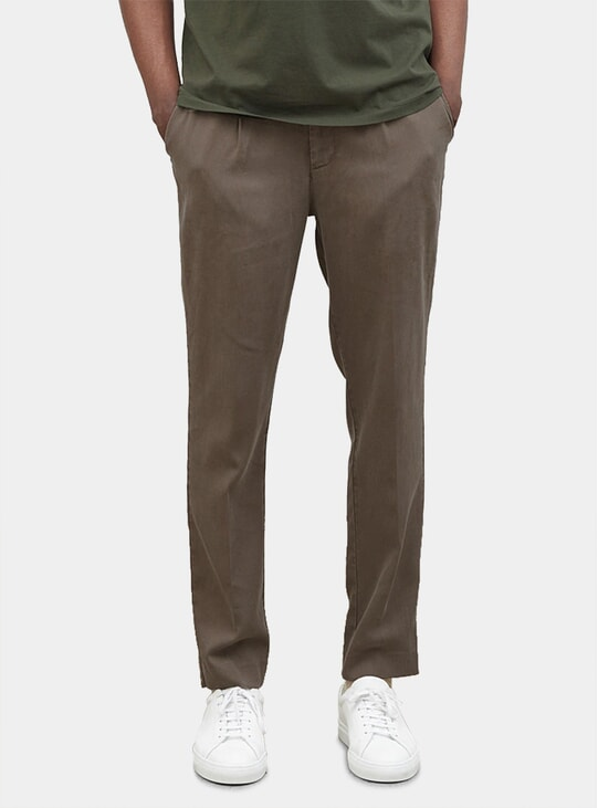 Taupe Tencel Trousers