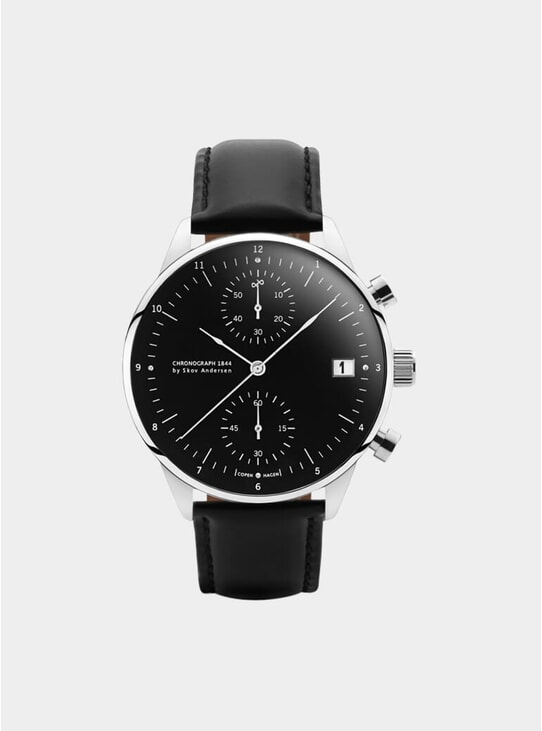 Black / Steel 1844 Chronograph Watch