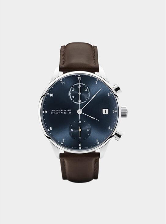 Blue Sunray / Steel 1815 Chronograph Watch