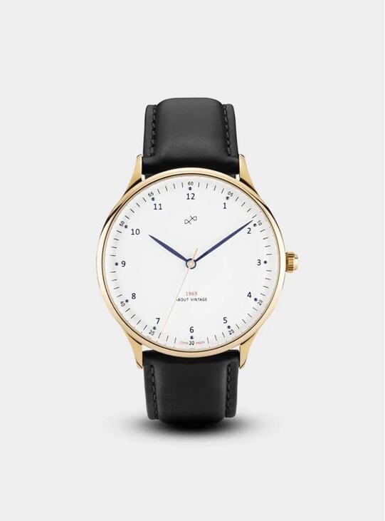 Gold / White Vintage 1969 Watch