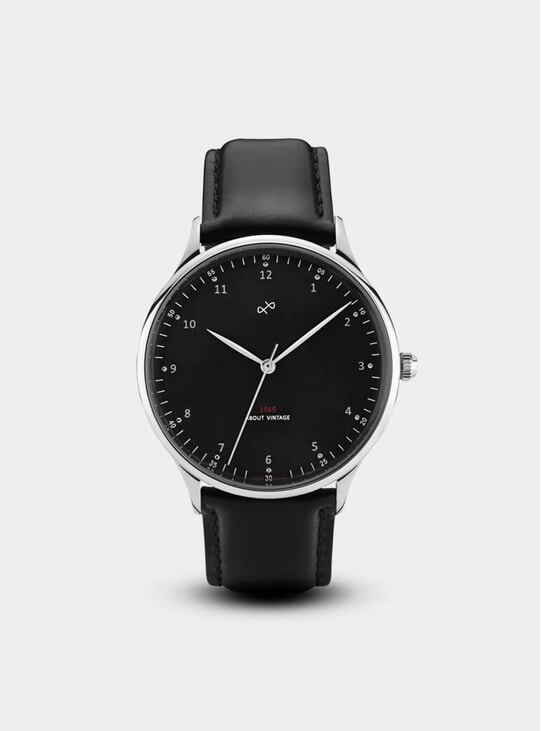Vintage Steel / Black 1969 Watch