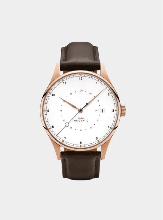Rose Gold / White 1820 Chronograph Mesh Watch