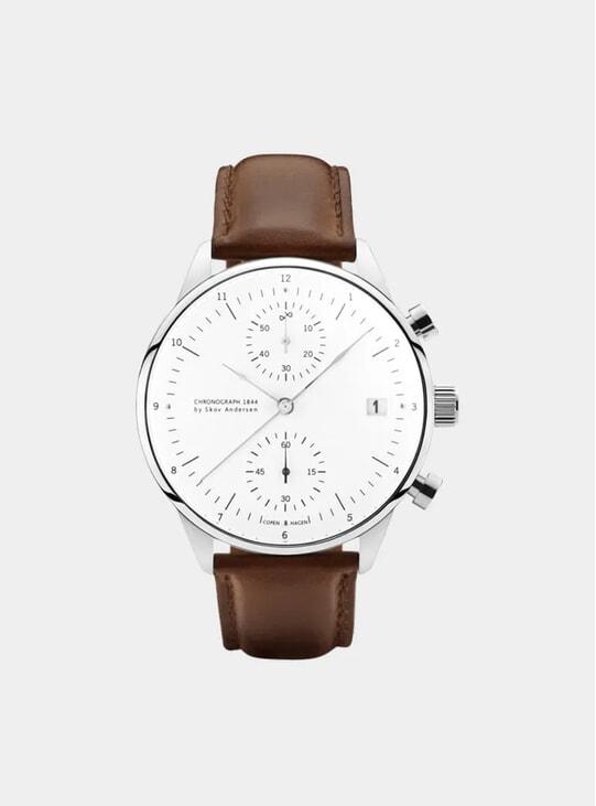 White / Steel 1844 Chronograph Watch