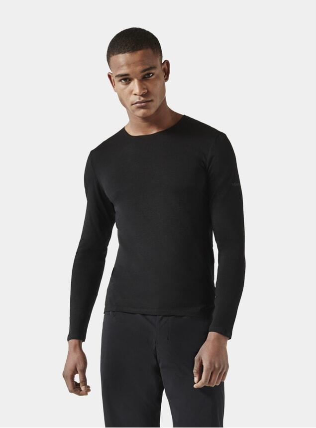 Black Long Sleeve Jersey T Shirt