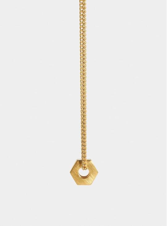 Gold Nut Pendant