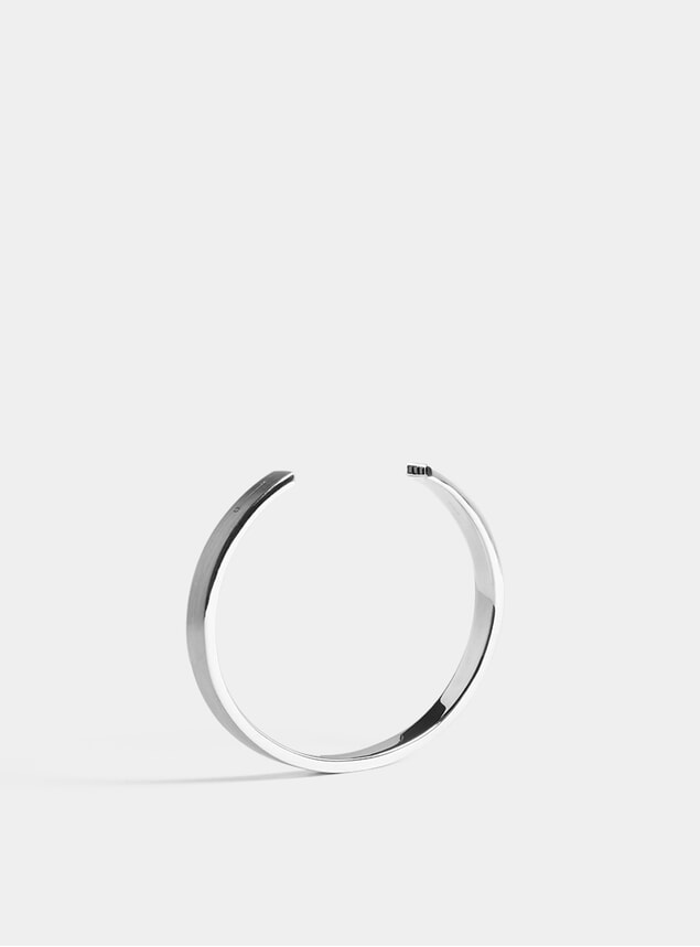 Silver & Black Diamond 7mm Cuff