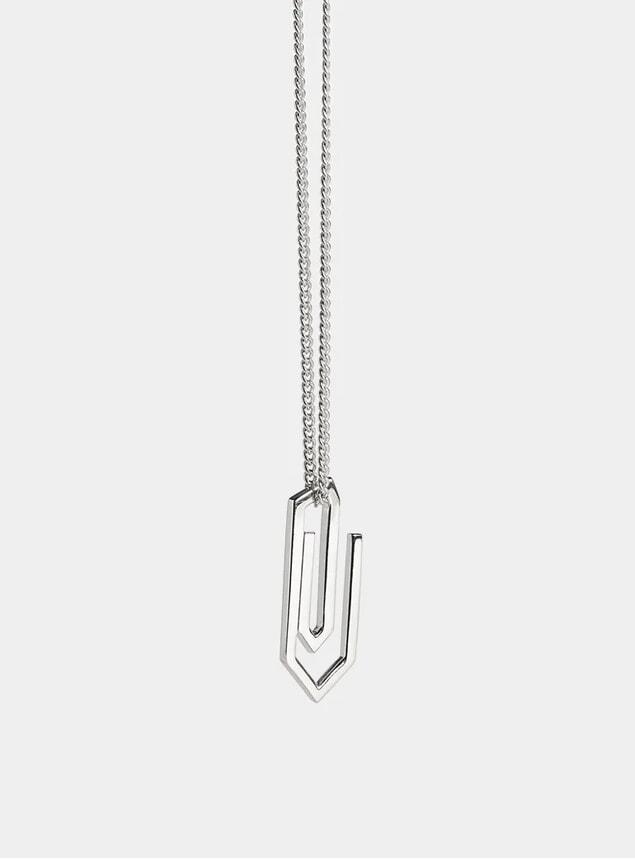 Silver Paper Clip Pendant