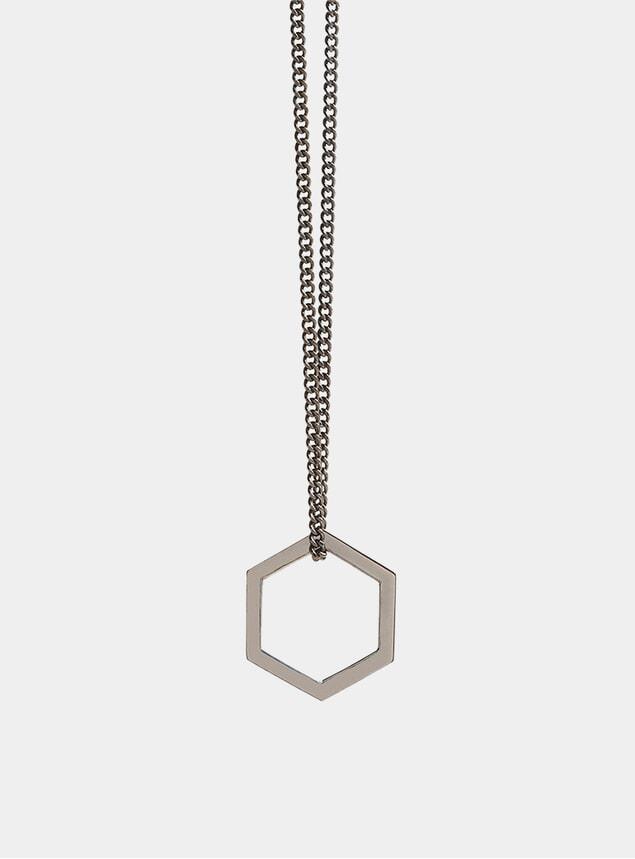 Black Rhodium Hexagon Pendant