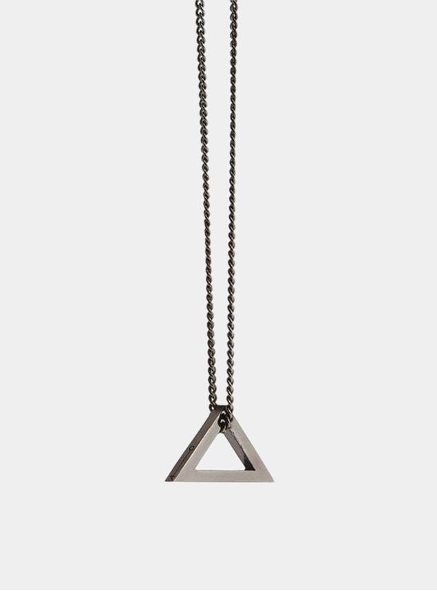 Triangle Black Rhodium Pendant