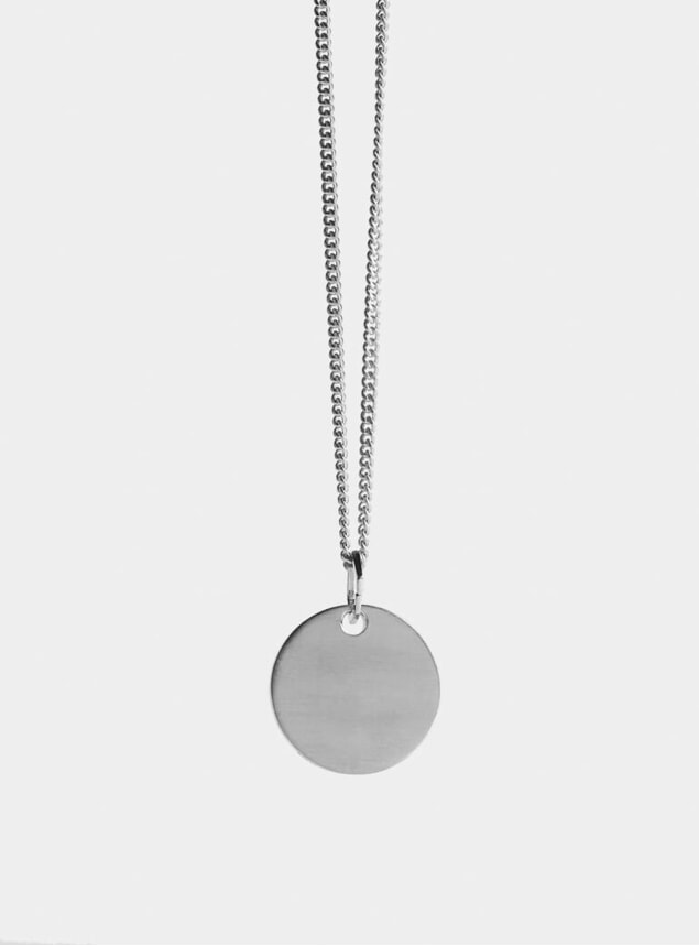Silver Disc Pendant