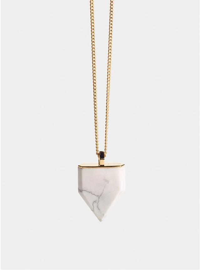 Silver & Howlite Shark Tooth Pendant