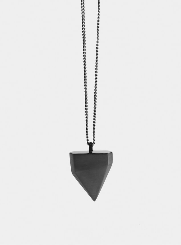 Rutheniam Shark Tooth Pendant