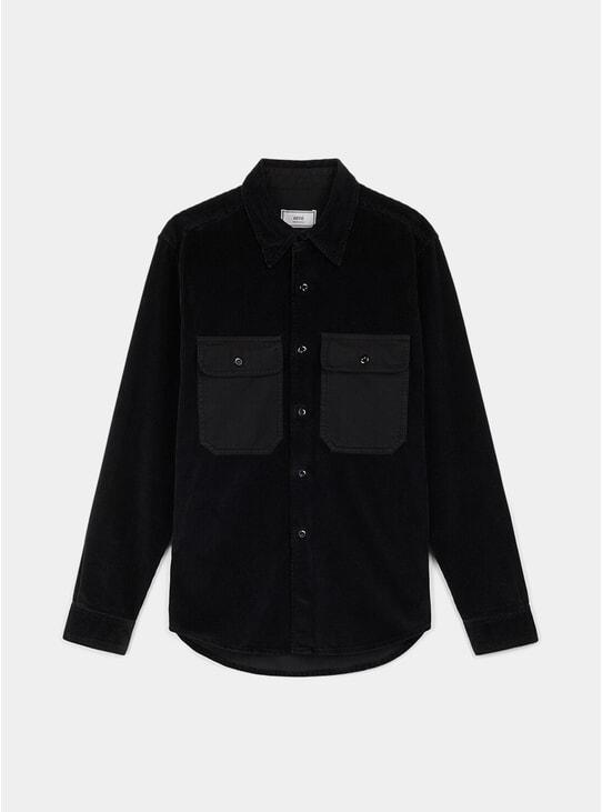 Black Corduroy Overshirt