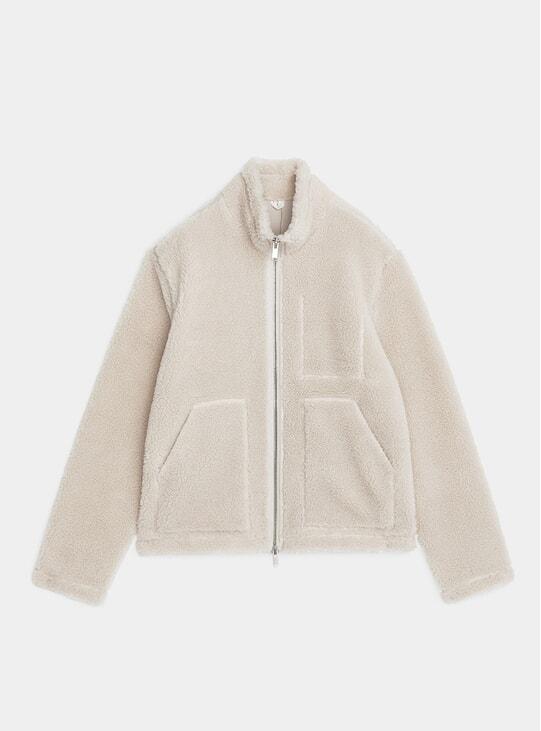 Beige Pile Jacket