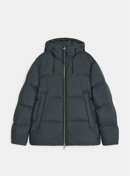 Green Down Puffer Jacket