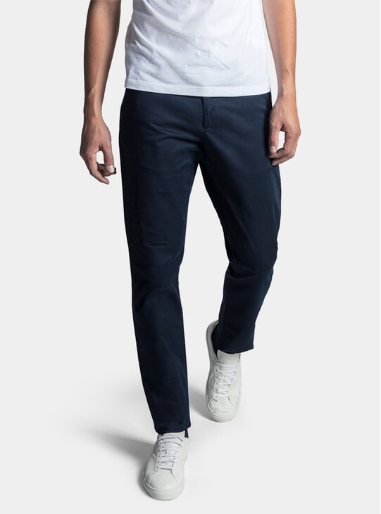 Dark Navy Chino Trousers
