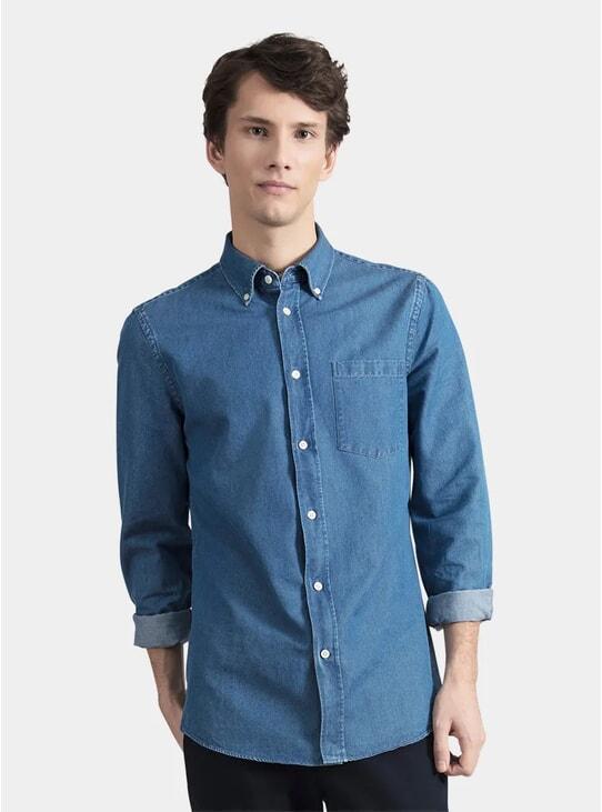 Stone Wash Denim Shirt