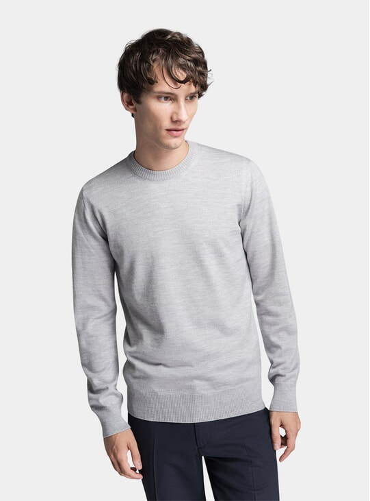 Light Grey Merino Sweater