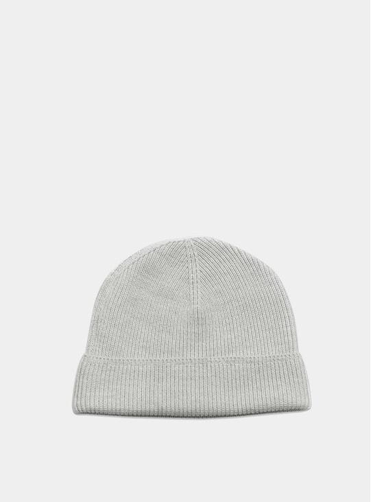 Light Grey Plain Wool Beanie