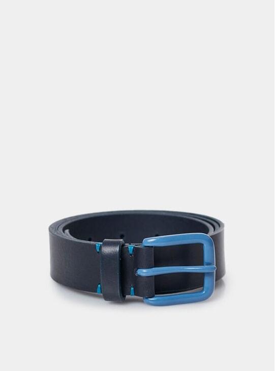 Navy / Slate Blue Modernist Belt