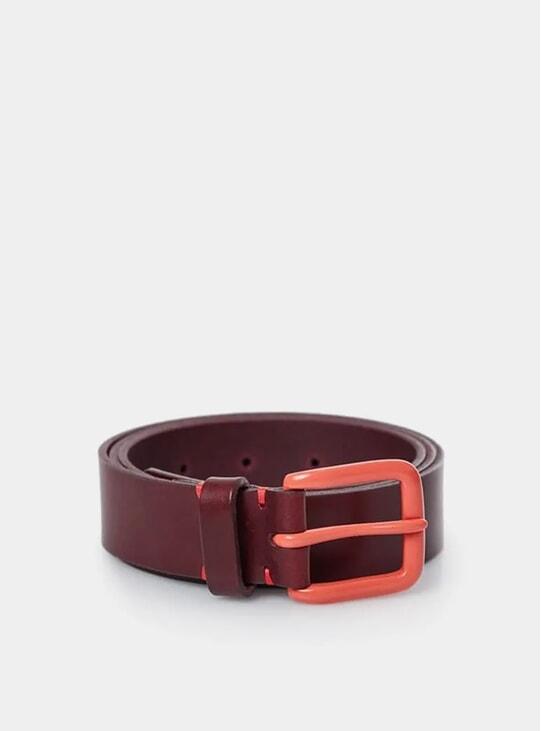 Oxblood / Terrcaotta Modernist Belt