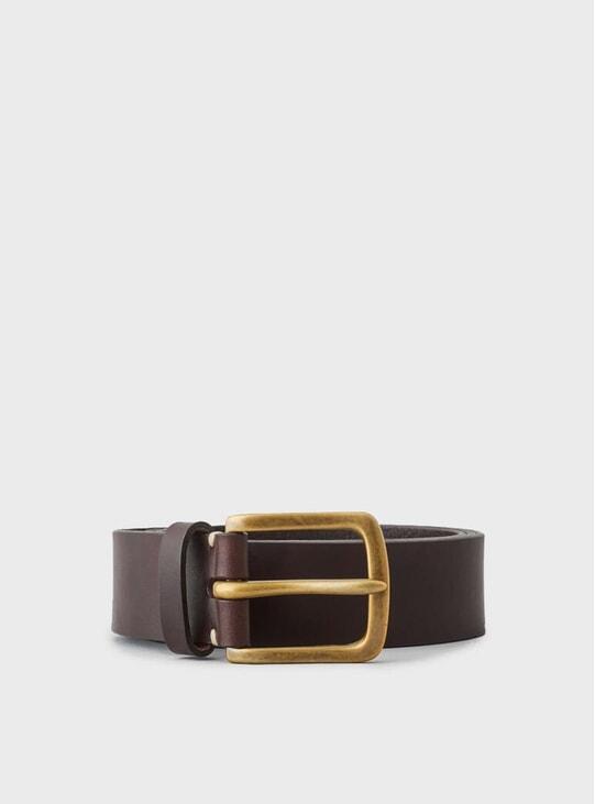 Walnut Brown / Brass Original Belt