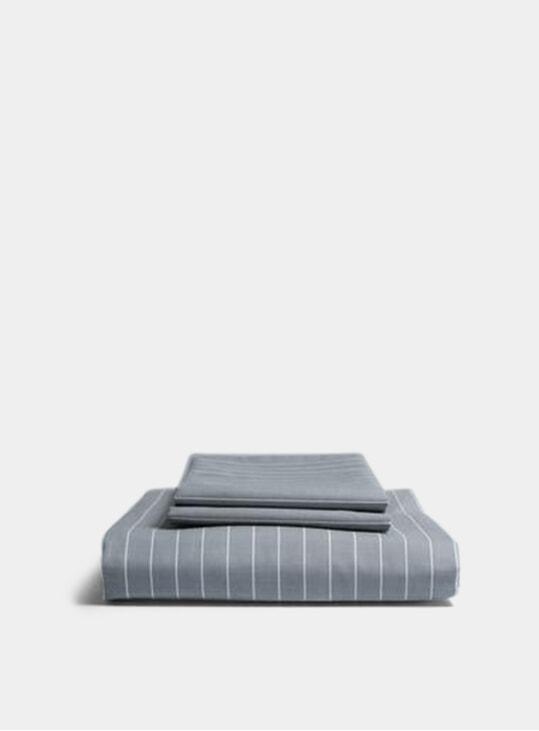 Grey Striped Duvet Set