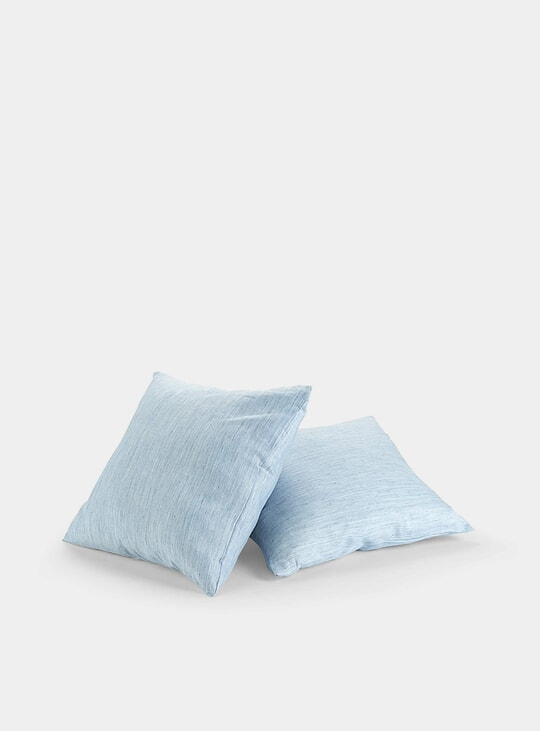 Solid Blue Kyoto Linen Cushions