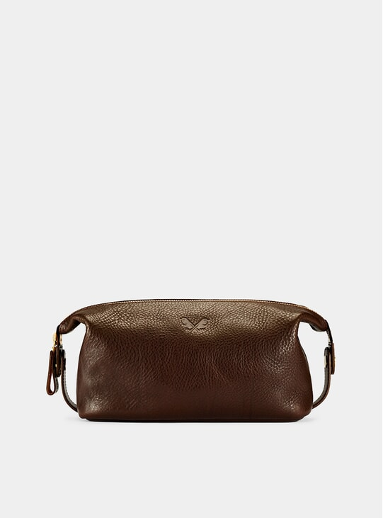 Brown Wash Bag / Dopp Kit