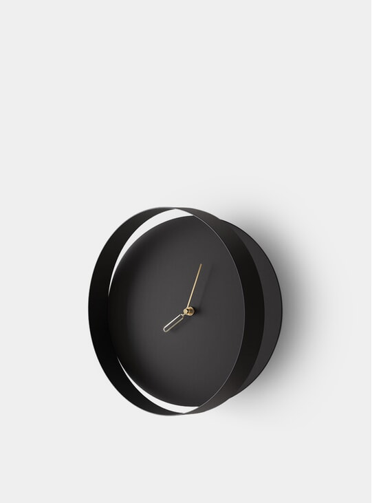 Black Orbis Wall Clock