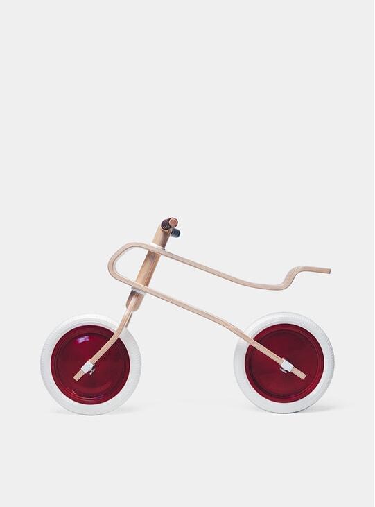 Candy Apple Red / Oak Balance Bike